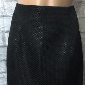 Worthington Black Jacquard Textured Skirt • New!